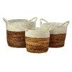 Castleton Home Banana 3 Piece Round Storage Basket Set