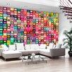 Artgeist Colourful Boxes 2.10m x 300cm Wallpaper