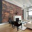 Artgeist Vintage Wall (Red Brick) 210cm x 300cm Wallpaper
