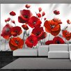 Artgeist Glowing Poppies 2.10m x 300cm Wallpaper