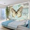 Artgeist Butterfly Postcard 210cm x 300cm Wallpaper