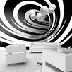 Artgeist Twisted in Black & White 2.45m x 350cm Wallpaper