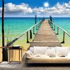Artgeist Beach, Sun. Bridge 2.45m x 350cm Wallpaper