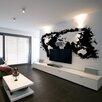 Artgeist White Continents, Black Oceans 2.31m x 300cm Wallpaper