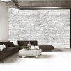 Artgeist White Brick 2.1m x 300cm Wallpaper