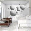 Artgeist Balls in White 2.10m x 300cm Wallpaper