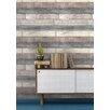 NuWallpaper Reclaimed Wood Plank 5.5m L x 52cm W Brick, Wood and Stone Roll Wallpaper