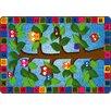 Flagship Carpets Alphabet Owls Green/Blue Area Rug