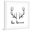 Marmont Hill 'Brave Antlers' by Diana Alcala Framed Painting Print
