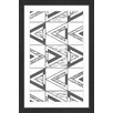 Marmont Hill Triangle Weave Framed Graphic Art