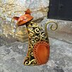 Castleton Home Animal Twisted Metal Sheet Sitting Cat Statue
