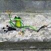 Castleton Home Animal Waving Metal Garden Frog Statue