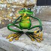 Castleton Home Animal Squatting Metal Garden Frog Statue