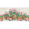 """Brewster Home Fashions 15' x 10"""" Terra Cotta Potted Flower Border Wallpaper"""