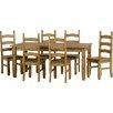 Mühlenhaus Essgruppe Corona mit 6 Stühlen