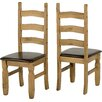 Andover Mills Corona Solid Pine Upholstered Dining Chair (Set of 2)