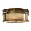 Feiss Justine 3 Light Flush Ceiling Light