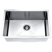 "Daweier 30"" x 18"" Small Radius Single Bowl Kitchen Sink"