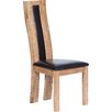 Hometime Suffolk Solid Oak Upholstered Dining Chair