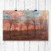 Big Box Art 'Trees' by Egon Schiele Painting Print