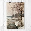 "Big Box Art Poster ""Birches in Early Spring"" von Victor Westerholm, Kunstdruck"