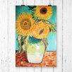 Big Box Art 'Sunflowers' by Vincent Van Gogh Painting Print