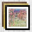 Big Box Art Rose House by Claude Monet Framed Painting Print