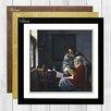 """Big Box Art Gerahmtes Poster """"Die unterbrochene Musikstunde"""" von Johannes Vermeer, Kunstdruck"""