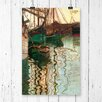 Big Box Art 'Boats in Port' by Egon Schiele Painting Print