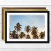 Big Box Art 'Tropical Palm Trees' Framed Photographic Print