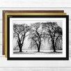 Big Box Art 'Winter Landscape Three Beautiful Trees' Framed Photographic Print