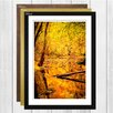 Big Box Art Autumn Forest with a Pond Landscape Framed Photographic Print