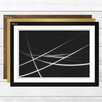 Big Box Art Black and White Abstract 2 Framed Graphic Art