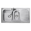 Rangemaster Sink & Taps Baltimore 95cm x 50.8cm Stainless Steel Reversible Kitchen Sink