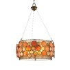 OK Lighting Capiz Shell 3-Light Pendant