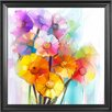 Innova 'Gerbera Bouquet' Framed Painting Print on Wrapped Canvas