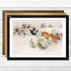Big Box Art 'Fox Chasing Bird' by Bruno Liljefors Framed Wall art