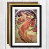 Big Box Art 'Dance' by Alphonse Mucha Framed Painting Print