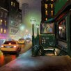 "Marmont Hill ""New York Street Lights"" by Rick Novak Painting Print on Wrapped Canvas"