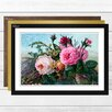 Big Box Art Vintage Floral Flowers Pink Roses Framed Graphic Art