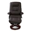 Home Loft Concept Massage Heat Swivel Recliner and Footstool