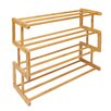 Woodluv Bamboo Wooden 4 Tier Shoe Rack