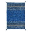 World Menagerie Grijalva Hand-Woven Blue Rug