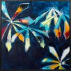 HoeiDenmark 'Dark Flowers 2' Painting Print on Wrapped Canvas
