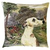 BelgianTapestries Whippet in Foxhunt Setting Cushion Cover