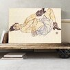 Big Box Art 'Woman Laying Down' by Egon Schiele Painting Print on Canvas
