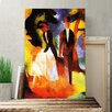 Big Box Art 'Couple with Daughter' by August Macke Painting Print on Canvas