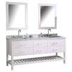 """Red Barrel Studio Halcomb 72"""" Double Bathroom Vanity Set with Mirror"""