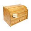 Woodluv Bamboo Double Decker 2 Layer Roll Top Wooden Bread Bin
