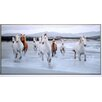 ERGO-PAUL 'Horses on the Beach' Photographic Print Plaque
